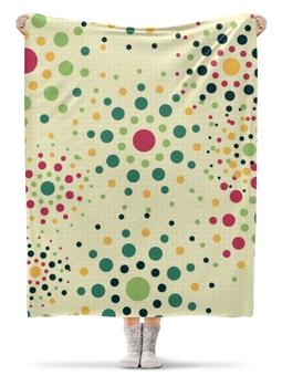 """Плед флисовый 130х170 см """"Круговой Орнамент"""" - цвета, круг, орнамент, цвет, круги"""