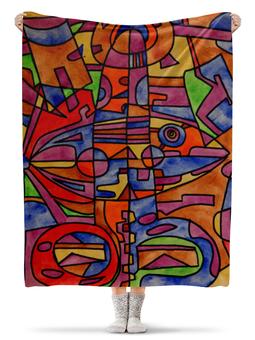"""Плед флисовый 130х170 см """"nj2]0-=-.'11"""" - арт, узор, абстракция, фигуры, текстура"""