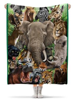 """Плед флисовый 130х170 см """"животные"""" - красота, яркость, животные, стиль, экзотика"""