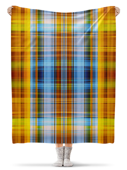 """Плед флисовый 130х170 см """"шотландия"""" - шотландия, клетка, плед"""