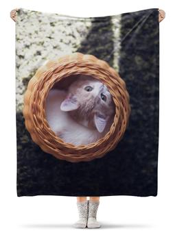 """Плед флисовый 130х170 см """"Кот в вазе"""" - фото"""