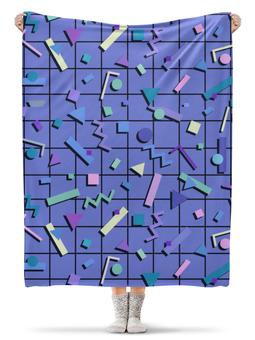 """Плед флисовый 130х170 см """"абстракция"""" - стиль, фигуры, геометрия"""