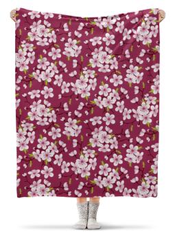 """Плед флисовый 130х170 см """"Цветущая вишня"""" - красиво, природа, цветочки, цветущая вишня, красивые цветы"""