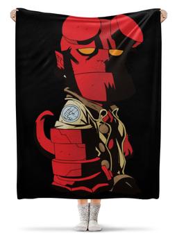"""Плед флисовый 130х170 см """"Hellboy / Хеллбой"""" - мультфильм, комиксы, фильм, hellboy, хеллбой"""