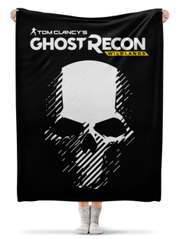 "Плед флисовый 130х170 см ""Tom Clancy's Ghost Recon Wildlands"" - tom clancys ghost recon wildlands, ghost recon, tom clancy, игры, для геймеров"