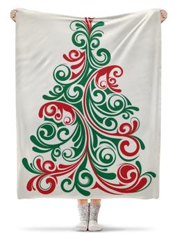 """Плед флисовый 130х170 см """"Новогодний"""" - новый год, стиль, рисунок, елка, новогодний"""