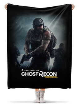 "Плед флисовый 130х170 см ""Tom Clancy's Ghost Recon Wildlands"" - игры, для геймеров, ghost recon, tom clancys ghost recon wildlands, tom clancy"