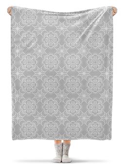 """Плед флисовый 130х170 см """"Свадебный"""" - орнамент, узор, свадьба, кружево, этнический"""