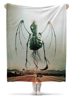 """Плед флисовый 130х170 см """"Монстры Юга"""" - череп, рок, скелет, смерть, ужасы"""