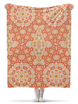 """Плед флисовый 130х170 см """"sunny"""" - арт, узор, абстракция, фигуры, текстура"""