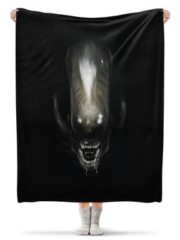 """Плед флисовый 130х170 см """"Alien / Чужой"""" - арт, космос, alien, чужой, рипли"""