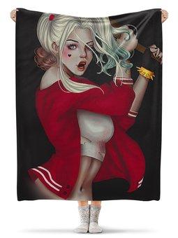 """Плед флисовый 130х170 см """"ХАРЛИ КВИНН - ОТРЯД САМОЙБИЙЦ"""" - девушка, стиль, комиксы, красота, харли квин"""