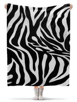 """Плед флисовый 130х170 см """"Зебра"""" - зебра, пятна"""