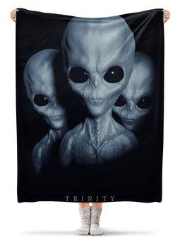 """Плед флисовый 130х170 см """"Aliens"""" - alien, инопланетяне, нло, пришелец"""