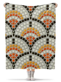 """Плед флисовый 130х170 см """"Античная Мозаика"""" - италия, мозаика, история, рим, древняя культура"""