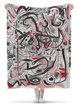 """Плед флисовый 130х170 см """"Mamewax"""" - арт, узор, абстракция, фигуры, текстура"""