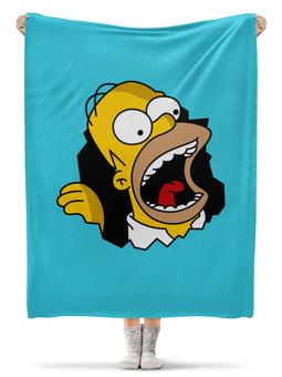 """Плед флисовый 130х170 см """"Гомер Симпсон"""" - прикольные, симпсоны, гомер симпсон"""