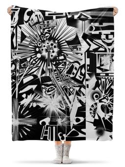 """Плед флисовый 130х170 см """"с яблоком"""" - арт, узор, абстракция, фигуры, текстура"""