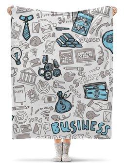 """Плед флисовый 130х170 см """"Бизнес"""" - деньги, доллар, бизнес, dollar, яппи"""
