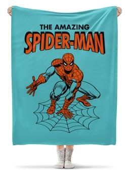 """Плед флисовый 130х170 см """"Человек-паук"""" - комиксы, супергерои, spider man, человек паук, spiderman"""