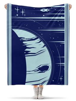 """Плед флисовый 130х170 см """"Космос"""" - арт, звезды, планета, космос"""