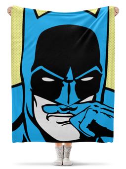 """Плед флисовый 130х170 см """"Бэтмен"""" - комиксы, batman, супергерои, бэтмен, усы"""