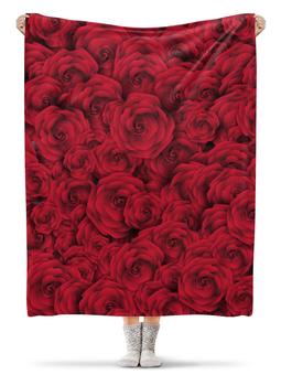 """Плед флисовый 130х170 см """"Розочки"""" - цветы, день святого валентина, подарок, розы, день влюблённых"""