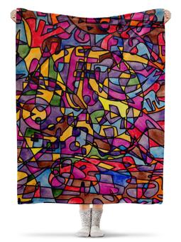 """Плед флисовый 130х170 см """"rrg`90`90=-="""" - арт, узор, абстракция, фигуры, текстура"""