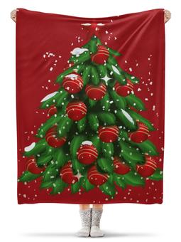 """Плед флисовый 130х170 см """"Новогодний"""" - новый год, рождество, ёлка, новогодний, рождественский"""