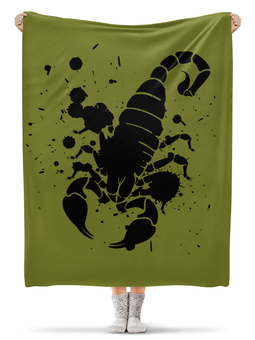 """Плед флисовый 130х170 см """"Скорпион (24.10-21.11)"""" - крутой, оригинальный, стильный, скорпион, биология"""
