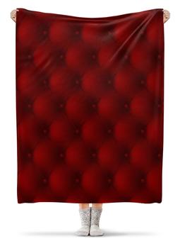 """Плед флисовый 130х170 см """"Красный"""" - узор, рисунок, стильный, классический, узорный"""