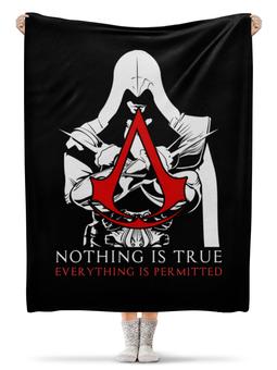 """Плед флисовый 130х170 см """"Assassin's Creed"""" - игры, assassins creed, assassin, ассасин, геймерские"""