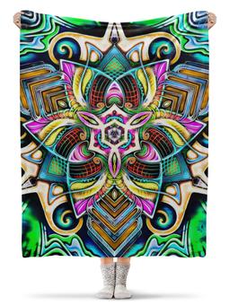 "Плед флисовый 130х170 см ""Mandala HD 4"" - узор, ретро, классика, этно, симметрия"