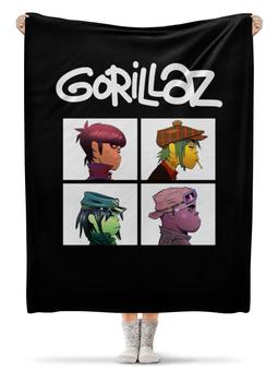 """Плед флисовый 130х170 см """"Gorillaz """" - гориллаз"""