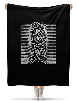 "Плед флисовый 130х170 см ""Joy Division"" - joy division, unknown pleasures, группы, ian curtis, пост-панк"