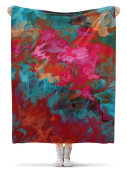 """Плед флисовый 130х170 см """"Абстрактный градиентный дизайн. Дигитал акварель"""" - арт, абстракт, градиент, микс, омбре"""