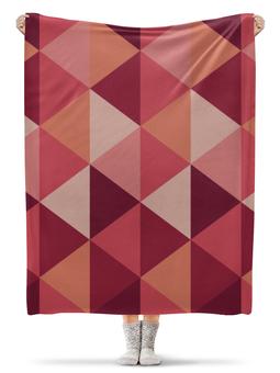 """Плед флисовый 130х170 см """"Геометричиская абстракция"""" - узор, стиль, орнамент, абстракция, абстрактный"""