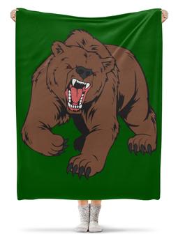 """Плед флисовый 130х170 см """"Bear / Медведь"""" - арт, животные, bear, медведь"""