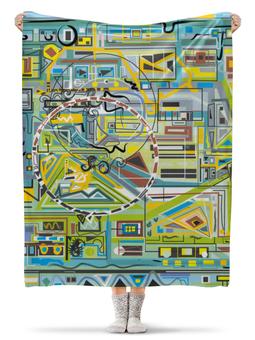 """Плед флисовый 130х170 см """"Березка"""" - арт, узор, абстракция, фигуры, текстура"""