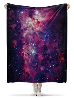 """Плед флисовый 130х170 см """"Космос"""" - космос, звезды"""
