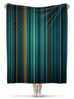 """Плед флисовый 130х170 см """"Полосатая абстракция"""" - узор, стиль, рисунок, абстракция, абстрактный"""