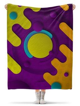"""Плед флисовый 130х170 см """"Абстрактный"""" - орнамент, стиль, рисунок, узор, абстрактный"""