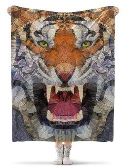 """Плед флисовый 130х170 см """"ТИГРЫ ФЭНТЕЗИ"""" - хищник, животные, клыки, стиль эксклюзив креатив красота яркость, арт фэнтези"""