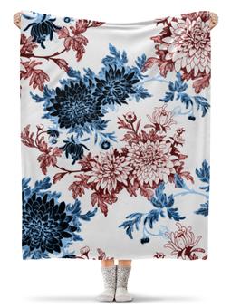 """Плед флисовый 130х170 см """"Хризантемы"""" - красиво, цветы, хризантемы"""