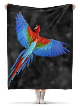 """Плед флисовый 130х170 см """"Попугай"""" - фото, птица, попугай"""