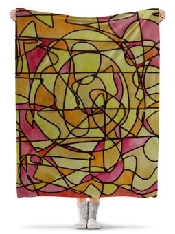"""Плед флисовый 130х170 см """"bdbd--;12"""" - арт, узор, абстракция, фигуры, текстура"""