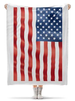 "Плед флисовый 130х170 см ""AMERICA"" - америка, usa, сша, flags, stripes and stars"