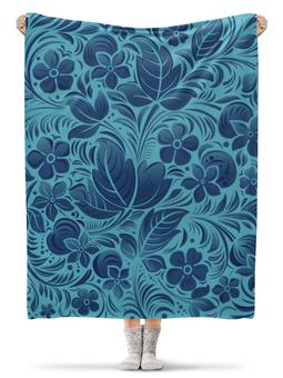 """Плед флисовый 130х170 см """"Цветочный узор"""" - цветы, узор"""