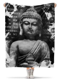 """Плед флисовый 130х170 см """"Будда (Письмена)"""" - философия, религия, буквы, будда, буддизм"""