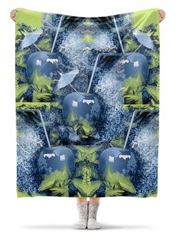 """Плед флисовый 130х170 см """"Яблочный микс"""" - фрукты, напиток, абстракция, яблоко, натюрморт"""